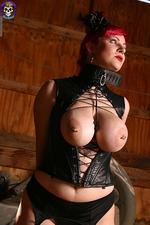 Busty Goth Girl Bound 02