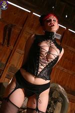 Busty Goth Girl Bound 05