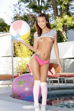 Alina Li Gets Nude By The Pool 07