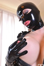 Latex Lucy Red Dildo  09