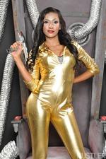 Sexy Latina Babe Sadie Santanaundressing Slowly 00
