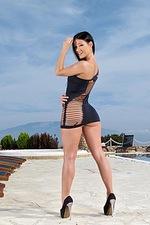 Lexa In Sexy Black Dress 01