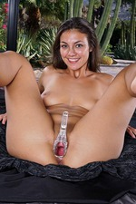 Busty Babe Tomi Taylor Masturbates With A Huge Dildo 13