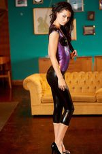 Antonia Purple Black Latex 08