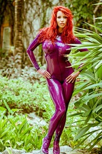 Busty Bianca In Purple Latex 05