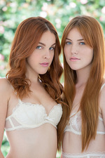 Amara Miller And Gwen Stark Two Redhead Beauties And The Black Beast 00
