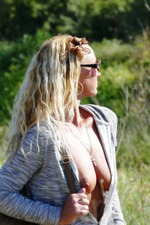 Pantie Stuffing And Masturbation Outdoors In Public Walk 14