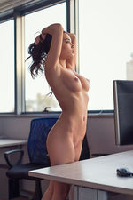 Nici Strips In The Office 11