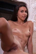 Skinny Tan Teen Floor Naked 12