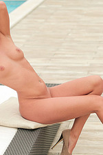 Tracy Gets Nude Poolside 12