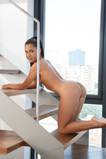 Apolonia Gets Nude On The Stairs 07