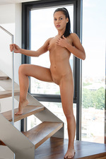 Apolonia Gets Nude On The Stairs 11