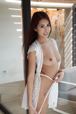 Paula Shy In Sexy White Lace 02