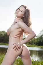 Beautiful Teen Ginger Frost Nude By The Lake 05