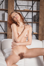 sexy French redhead readily reveals her tiny breasts 03