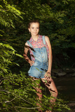 Racy Russian Alisabelle has a penchant for getting naked outdoors 01