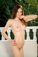 Gorgeous Eiby Shine lives up to her name, radiant in pink as she lounges on the balcony 09