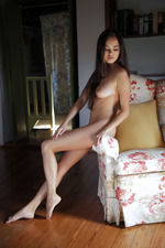 Erotic Brunette Girl Li Moon Alone At Home 03