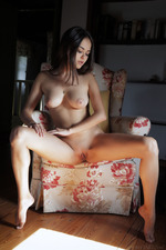 Erotic Brunette Girl Li Moon Alone At Home 06
