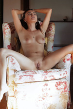 Erotic Brunette Girl Li Moon Alone At Home 13