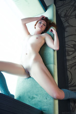 Hot Redhead Teen Elen Moore Strips By The Window 09