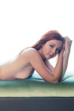 Hot Redhead Teen Elen Moore Strips By The Window 13