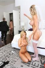 Big Boboed Brandi Joins To Wedding Threesome 19