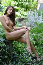 Michaela Isizzu In Garden 06
