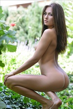 Michaela Isizzu In Garden 08