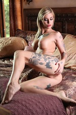 Kleio Valentien Plays With Huge Dildo 01