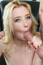 Samantha Rone Slutty Blonde Sucks And Fucks With Two Cocks 20