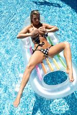 Nikki Sims Black And Silver Bikini 03