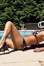 Nikki Sims Black And Silver Bikini 07
