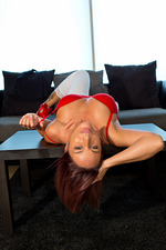 Nikki Sims In Sexy Red 12