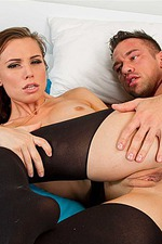 Aidra Fox Gets Her Ass Nailed In A Black Bodystocking In Bed 10