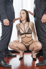 Lana Rhoades Catches Two Hard Cocks 03