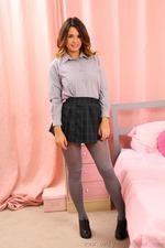 Sexy Schoolgirl Danni Strips Off Her Uniform 03