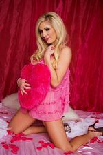 Breastedblonde In Her Pink Lingerie 02