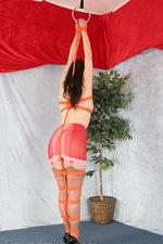 Milf is suspended from the ceiling 02