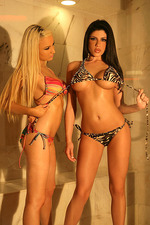 Hot blondie Leah and black nasty Lisa 03