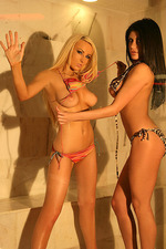 Hot blondie Leah and black nasty Lisa 04