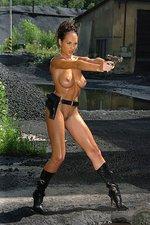 Julie babe with a gun is dangerous 10
