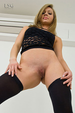 Blonde Samatha in black 09