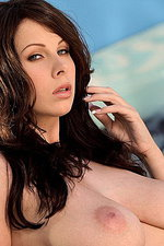 Gianna Michaels tugs at her furry beaver   04