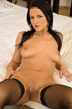 Lovely Walleria with her dildo 01