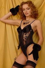 Isabella seduces you in black lace lingerie 00