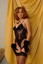 Isabella seduces you in black lace lingerie 03