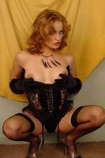Isabella seduces you in black lace lingerie 07