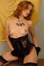 Isabella seduces you in black lace lingerie 09