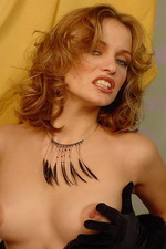 Isabella seduces you in black lace lingerie 11